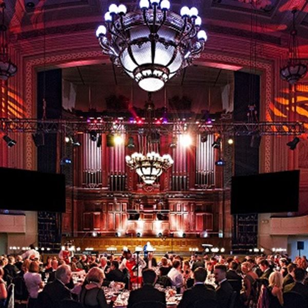 Performed downstairs at the Melbourne Town Hall as a corporate comedian and hoax speaker. This is the Main Hall - perfect for wedding receptions with 300 - 650 guests