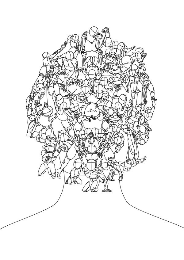 Anatomy of a Selfportrait by Matuus Steff Gaal, via Behance
