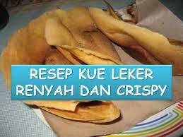 Hasil gambar untuk resep kue crepes yang renyah
