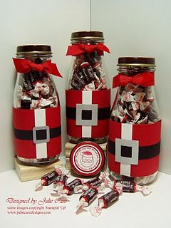 Don't throw away those Frappacino bottles. Turn them into Christmas gifts...I'm willing to drink lots of Frappacinos to do this for Christmas this year.