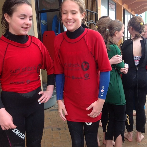 Thomas Clapham School girls ready for their second surf for the day. - @surfshack_capetown- #webstagram