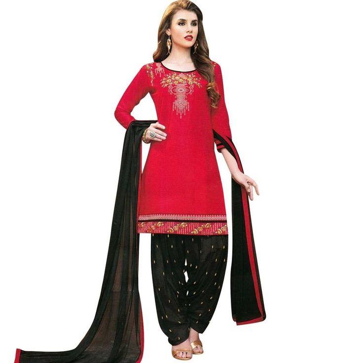 Patiala Salwar Embroidered Cotton Salwar Kameez Suit  #Designer #LowestPrice #DressMaterial #ShopNow #SalwarSuit #FreeShipping #NewStuff #SalwarKameez