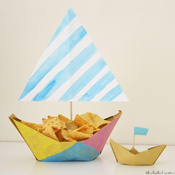 La Fusilla Creativa: handmade origami boat - party idea