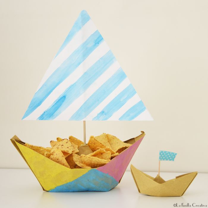 La Fusilla Creativa: handmade origami boat - party idea