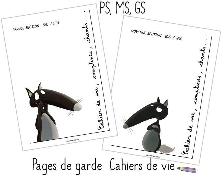Pages de garde Maternelle le Loup