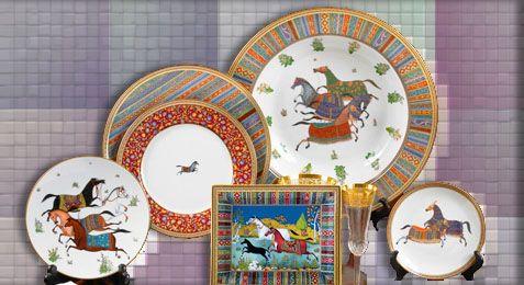 Vaisselle Hermès Cheval d'Orient