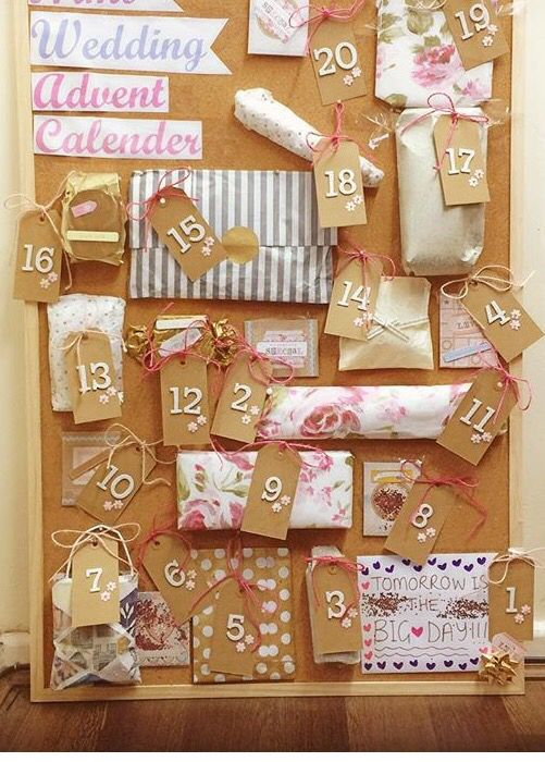 Advent Calendar Ideas Wedding : Wedding advent calendar my friends sisters made this for