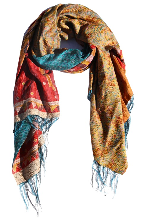 Kantha scarf from india