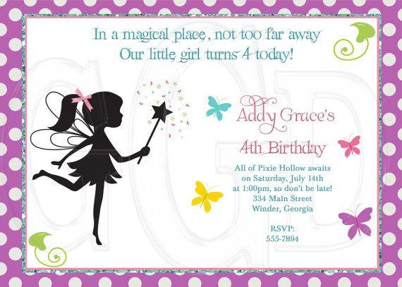 fairy invitation pixie invite digital file printable