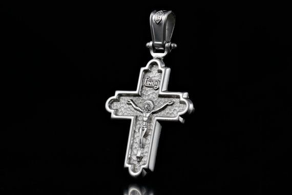 Handmade Cross 925 Sterling Silver with Rhodium by ZografosCrosses, €35.00