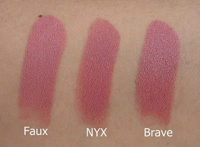 Mac lipsticks duped by NYX Matte lipstick in Whipped Caviar