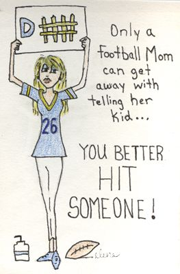 My Football Mom Cartoon!