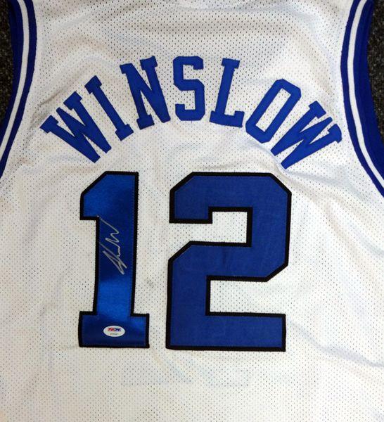 Justise Winslow Autographed White Duke Blue Devils Jersey PSA/DNA #Y99447