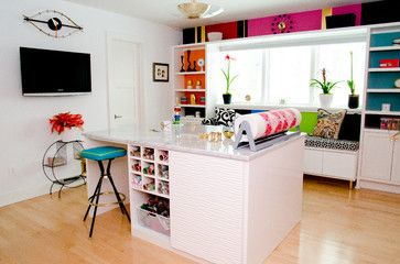 Bright and Beautiful Craft Room - contemporary - Home Office - Cincinnati - California Closets of Cincinnati and Dayton