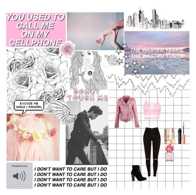 """""""☆I Don't Want To Care But I Do☆"""" by xo-nataliiee-xo on Polyvore featuring Accessorize, Marc Jacobs, Benefit, Yves Saint Laurent and Charlotte Russe"""