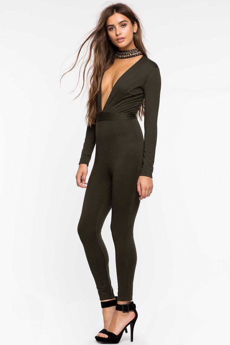 Комбинезон Размеры: S, M, L Цвет: темно-зеленый, черный Цена: 2509 руб.     #одежда #женщинам #комбинезоны #коопт