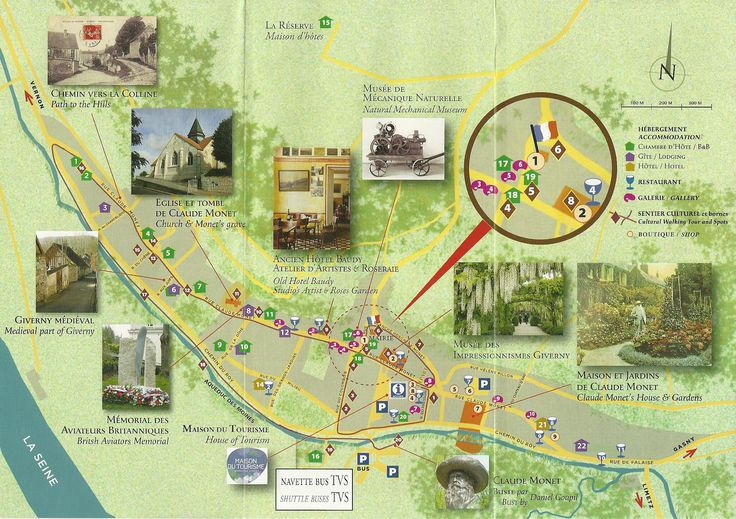 Giverny Village map