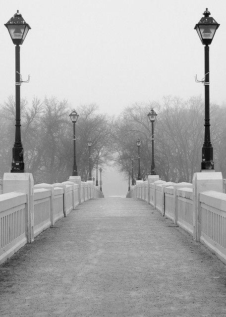 Assiniboine Park (Winnipeg, Manitoba, Canada) Foot Bridge in Winter