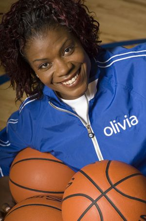 Sheryl Swoopes  My cousin dated her in high school. Years later we used to run with the same crowd, attended the same parties, brunch, etc...