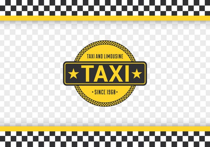 Free Taxi Checkerboard Vector Background