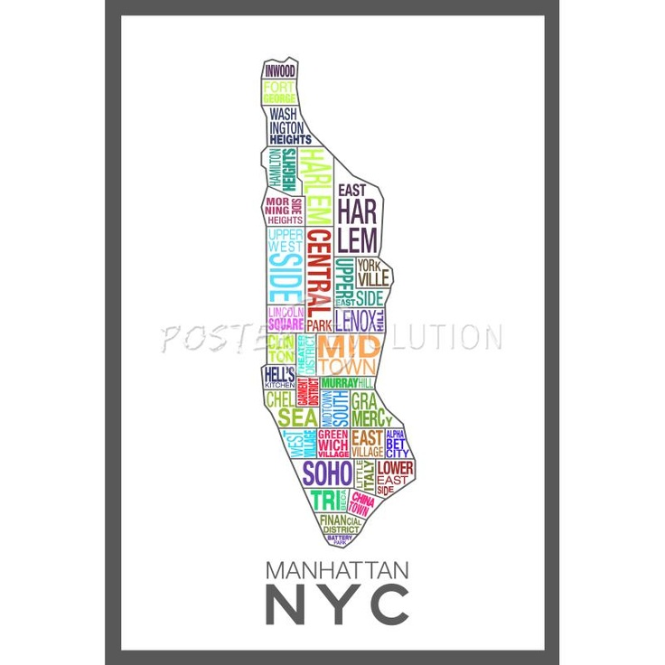 Nyc Sections Map Manhattan Map Nyc