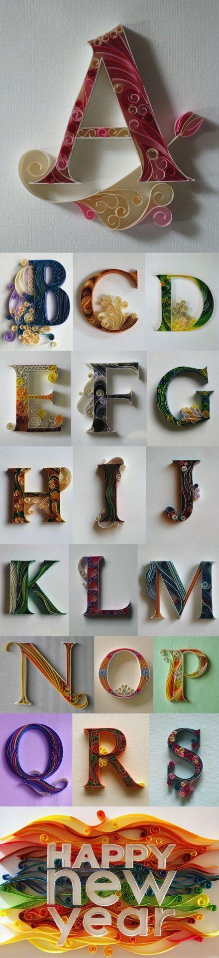 Alphabet In Quilling