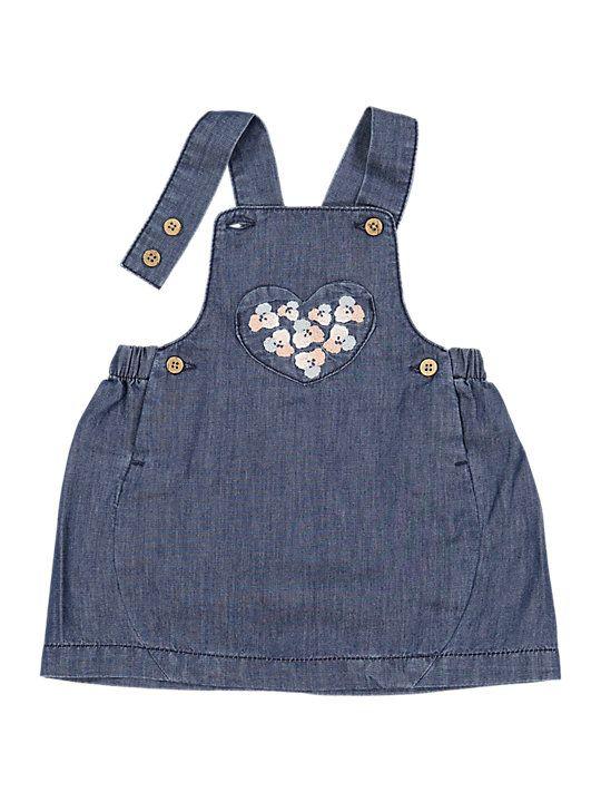 ae3f8152b819 Polarn O. Pyret Baby Denim Pinafore Dress, Blue | Mini Fashionisitas ...