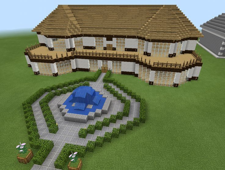 Minecraft Realistic House With Balcony Deck Wood Minecraft