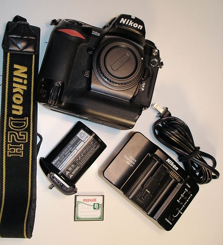 .. ONLY 43 Minutes left!!! Nikon D2H 4.1 MP Digital SLR Camera  Free lens with BIN!