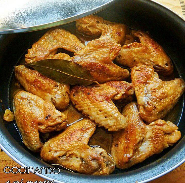 alitas pollo ajillo