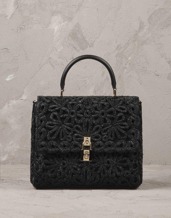 КРУЖЕВНАЯ СУМКА DOLCE BAG ИЗ РАФИИ - Средние сумки из текстиля - Dolce&Gabbana - Лето 2016