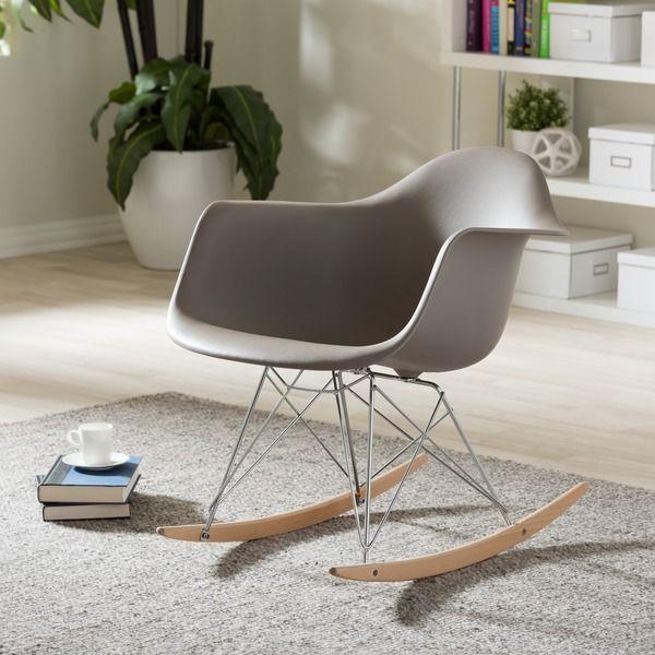 Baxton Studio Vinnie Small White Cradle Chair (Grey) (Chrome). Studio LivingLiving  Room ...