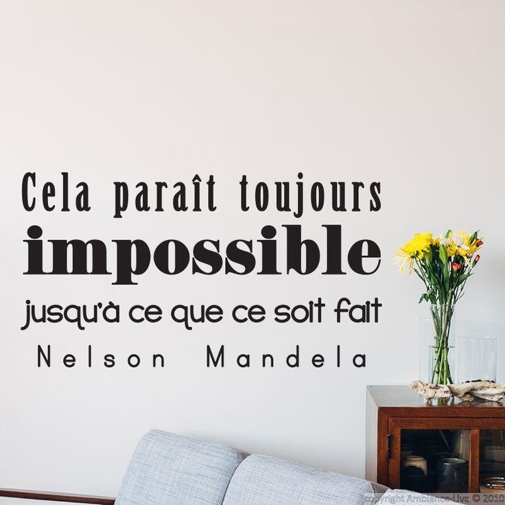 Sticker cela parait toujours impossible... Mandela - stickers Citations Français - ambiance-sticker