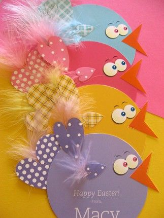 Easter chick card, craft