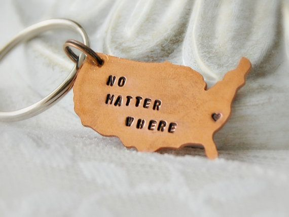 United States Keychain Long Distance by Unique2chicdesigns on Etsy