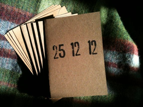 new studio product - hand printed, 100% recycled card letterpress Christmas cards