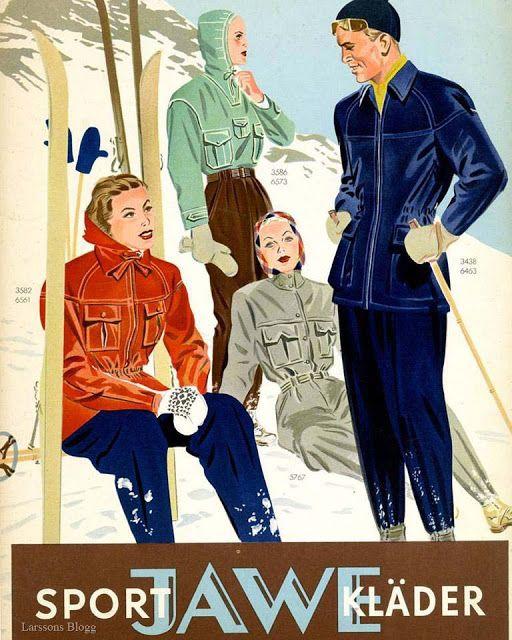 Sportkläder från Jawe, 1940-tal