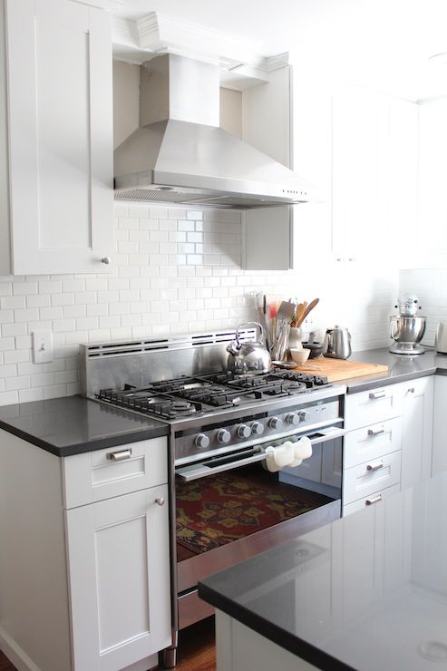 White Kitchen With Silestone Quartz Marengo Countertops