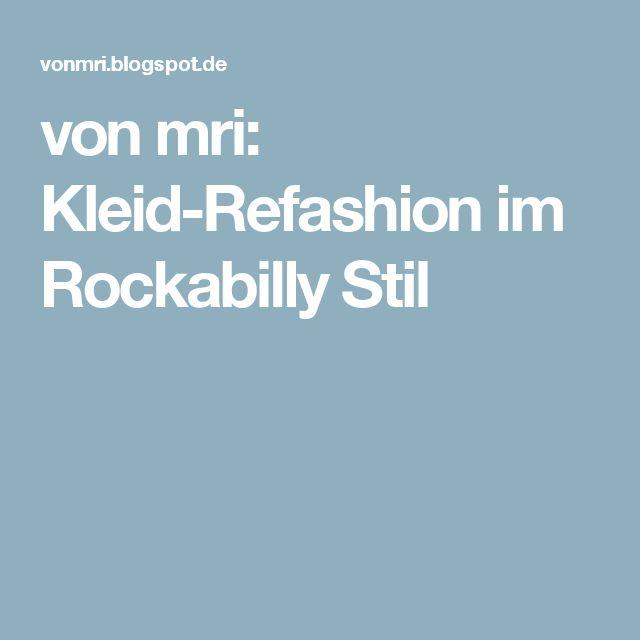 von mri: Kleid-Refashion im Rockabilly Stil