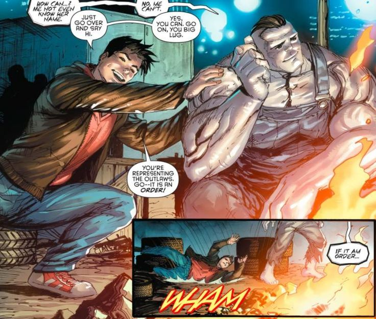 Now he just has to teach bizarro about getting a girls phone number after he kisses her