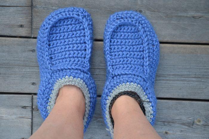 Virkade tofflor, slippers - HojnaDesign