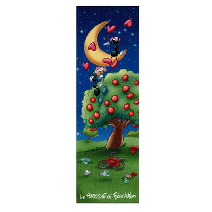 Segnalibro in carta FV01-07 | Le Formiche di Fabio Vettori #segnalibro #book #libro #formiche #gift #leggere #amore #love #innamorati #serenata #albero