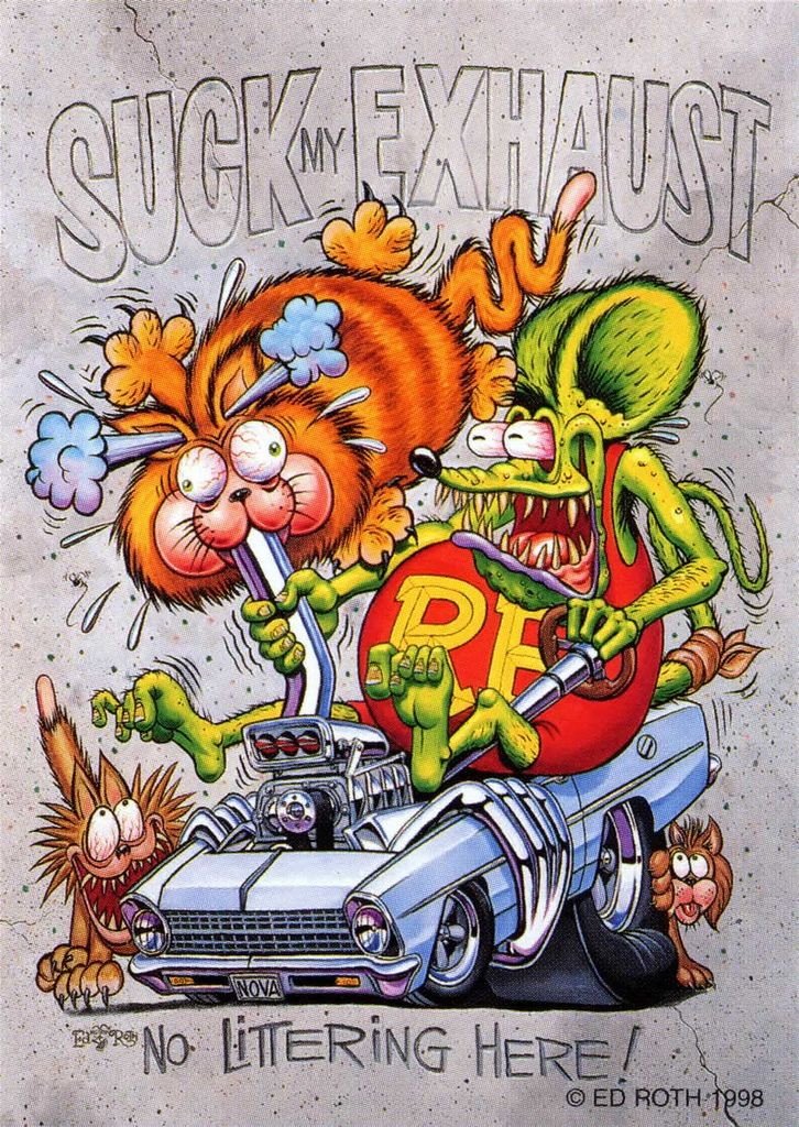 ratfink. rfparty. 2167577402_e2ae8fd2ee_b. An aside… Ed Roth was a very interesting man and left a huge stamp on the hot rod and Kustom Kulture world.