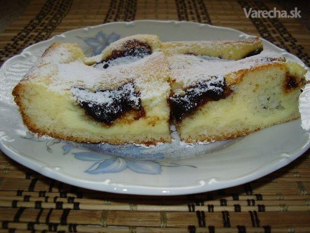 Tvarohový koláč so slivkovým lekvárom (fotorecept) - Recept