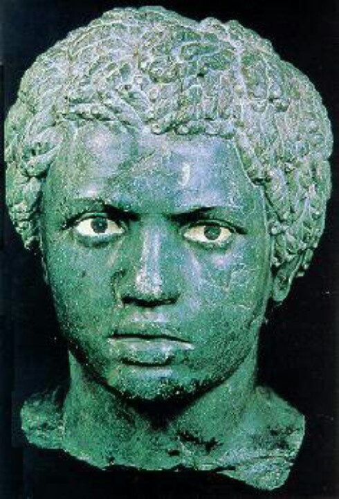 Lucius Septimius Severus (145 - 211) an Ancient Roman soldier stationed in Egypt in the 1st century B.C.E. Serverus was born in Leptis Magna in the province of Africa and was Roman Emporer from 193 to 211.