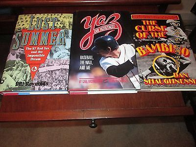 awesome RED SOX BOOKS - YASTRZEMSKI 1967 SOX AND CURSE OF THE BAMBINO ALL 1ST EDITIONS - For Sale View more at http://shipperscentral.com/wp/product/red-sox-books-yastrzemski-1967-sox-and-curse-of-the-bambino-all-1st-editions-for-sale/