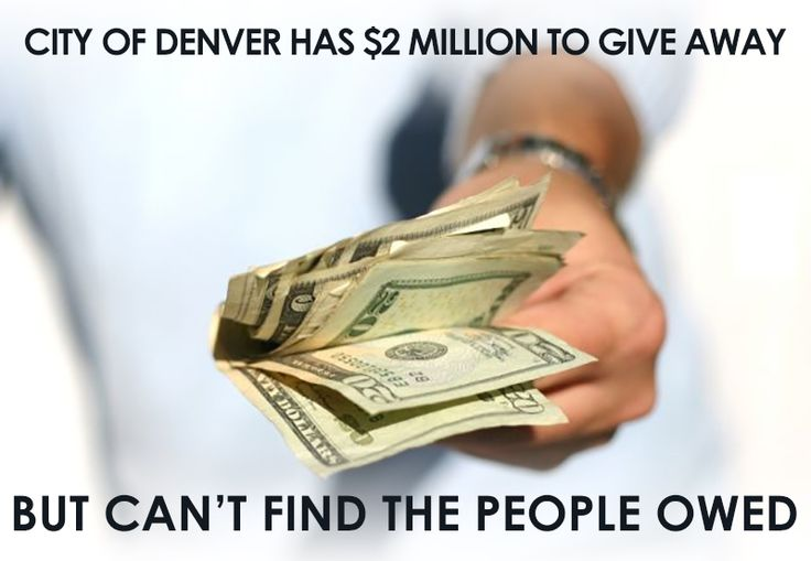 Foreclosed on in the last couple years? Denver might owe you money!  Read more: http://bit.ly/1QbWGNI · See the list: http://bit.ly/1RLRxO2  #RealEstate #Money #Denver