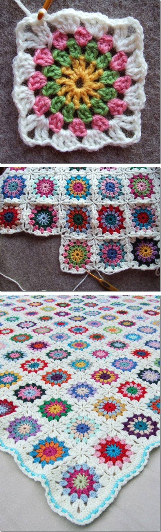 Flowers in the Snow, free pattern & photo tutorial by Solveig Grimstad.  The Ravelry Project Gallery also has over 1,000 (!) completed projects to browse for color inspiration - http://www.ravelry.com/patterns/library/flowers-in-the-snow  . . .