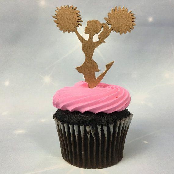 Cheerleader Cupcake Toppers Cheerleader by PSWeddingsandEvents
