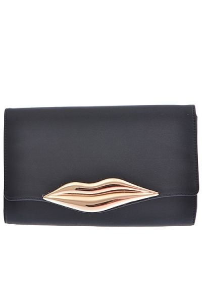 Gold Lip Clutch · Nique's Online Boutique · Online Store Powered by Storenvy